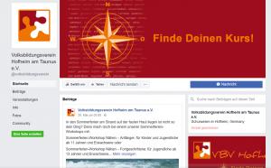 Facebookseite VBV Hofheim